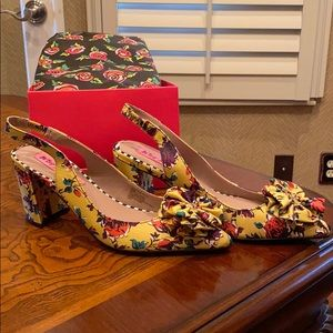 Betsey Johnson Floral Heels Size 6